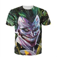 Raisevern new the Joker 3d t shirt funny comics character joker with poker 3d t shirt summer style outfit tees top full printing-in T-Shirts