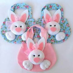 Bunny Crafts, Felt Crafts, Easter Crafts, Holiday Crafts, Crafts For Kids, Diy Crafts, Spring Projects, Craft Projects, Bunny Birthday