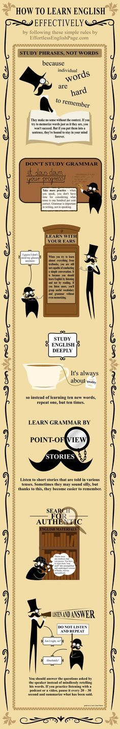 How To Learn English Effectively (Infographic) | Effortless English Page