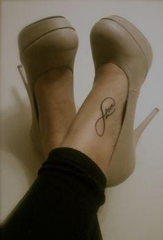 Cute foot tattoo : Infinity : love : tattoo