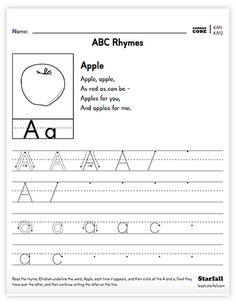 kindergarten abc rhymes worksheet generator krf1 krf