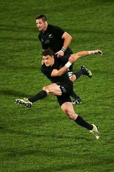 ABs Dan Carter and Richie McCaw last test in Christchurch Played the Pumas (17 July 2015)