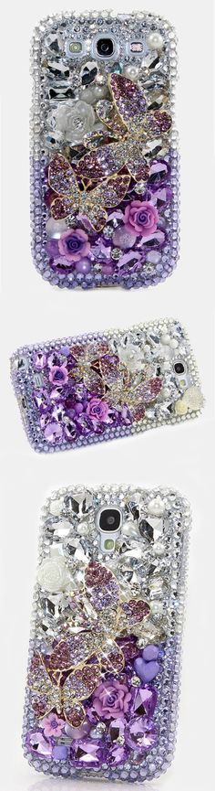 Lavender Butterfly crystal 3d bling case Design for Samsung Galaxy S3, S4, S5, S6 edge also available for Samsung Galaxy Note (2, 3, 4, 5). Grab this stylist and fashionable bling phone case for Christmas. http://luxaddiction.com/collections/3d-designs/products/lavender-butterfly-design-style-707