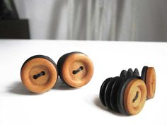 Handmade bar plugs with wooden nub by tubnub.