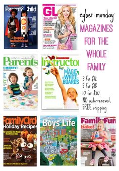 cyber monday: magazine deal for families | act quickly. this is a rockstar super fabulous holiday gift idea for everyone on your list!