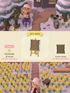 Nintendo Switch Animal Crossing, Animal Crossing Pocket Camp, Animal Crossing Wild World, Animal Crossing Game, Path Design, Border Design, Motif Acnl, Ac New Leaf, Motifs Animal