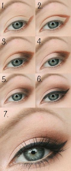 Eyeliner Look Using Black Eyeshadow and Soft Hues Makeup Goals, Makeup Inspo, Makeup Inspiration, Makeup Tips, Makeup Tutorials, Beauty Make-up, Beauty Hacks, Beauty Tips, Make Up Helle Haut