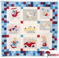 Nursery Quilt KIT - Red Brolly - Quilting & Patchwork Patterns