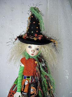 """Halloween Witch  Outfit for Connie Lowe Twig 17"""" made by Ulla #ulladesigns"""