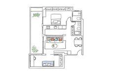 Entrega Plano 4 enero. plano de un piso de 60 metros