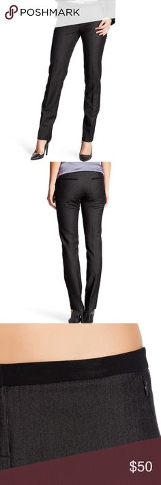 """Narrow Leg Trousers - Contrast trim, - Narrow leg, - Approx. 8.5"""" rise, 32"""" inseam (size 2), - Imported, Fiber Content (Stretch) 80% polyester, 16% viscose, 4% spandex Perfect Work Trousers Amanda & Chelsea Pants Trousers"""