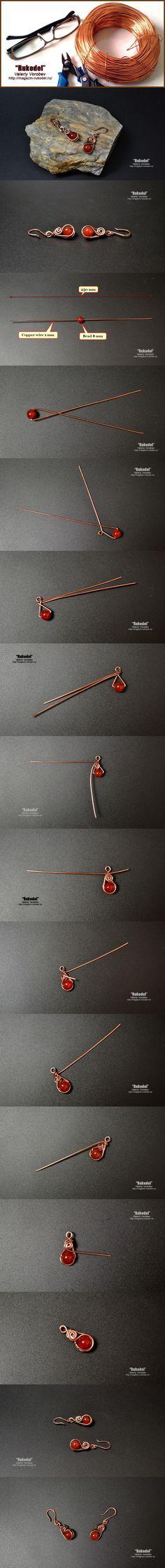 Wire Wrapped Earrings. Серьги из проволоки