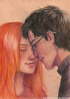 "Harry Potter - Leos {Harry & Ginny Potter} Harry: ""I'm lucky to have you, aren't I?""- HPATCC - Page 15 - Fan Forum Harry Potter Couples, Harry Potter Ships, Harry Potter Fan Art, Harry Potter Universal, Harry Potter Fandom, Harry Potter Movies, Harry Potter World, Hermione, Ginny Weasley"