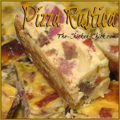 Pizza Rustica, aka: Pizza Gain. a Traditional Italian Easter Dish