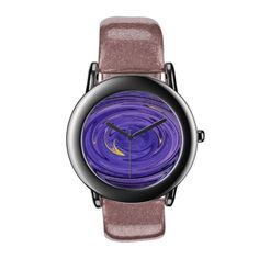 Purple Spin Abstract Wrist Watches