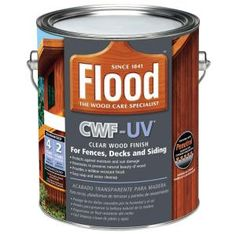 Flood 1 gal. Clear CWF-UV Oil Based Exterior Wood Finish-FLD542-01 - The Home Depot