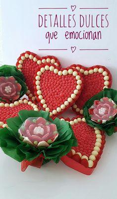 Corazones de #chuches para endulzar su día. Regalos #dulces para San Valentín.