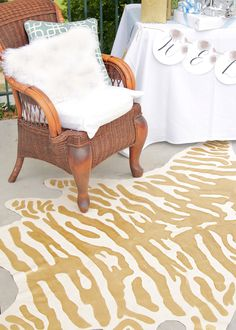 DIY faux zebra rug 3 - using decorator faux suede. I think this would be more authentic.