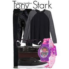 tony stark by marvel-ous on Polyvore featuring Rebecca Taylor, VIPARO, Hollister Co., Vans, rag & bone and Ray-Ban