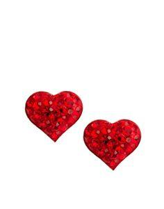 Love Crystal Heart Studded Earrings