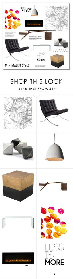 """Minimalist style"" by magnolialily-prints ❤ liked on Polyvore featuring interior, interiors, interior design, home, home decor, interior decorating, Design Within Reach, ELK Lighting, Safavieh and Blume"
