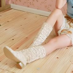 Boots day sweet fretwork network boot lace hook with the high cut boots take m large white fashion women shoes