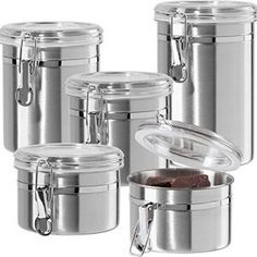 Having a systematic kitchen is important. A kitchen is one of the main areas of the Kitchen Canisters, Kitchen Appliances, Stainless Steel Canisters, Canister Sets, Cool Kitchens, Top, Coloring Books, Floral, Kitchens
