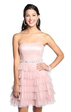 strapless tiered beaded sequin homecoming dress   $61.87    special offer: 25% off sitewide