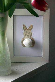 Home Made Modern: Craft of the Week: Bunny Butt Art