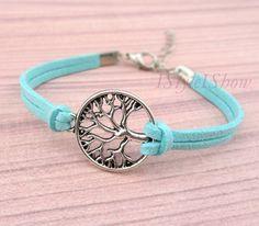 Bracelet, wish tree bracelet, A Tree of Life, love bracelet, infinity wish, friendship, christmas gift,. $1.59, via Etsy.