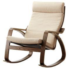 POÄNG 搖椅 - Korndal 米色, 棕色 - IKEA