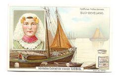 Hollande - Sud Beveland - Coiffures hollandaises  - Chromo Liebig - Trade Card