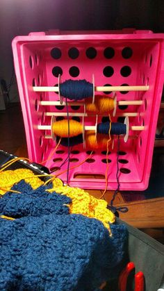 Unique way of doing yarn bobbins for C2C or graphgan crochet projects.