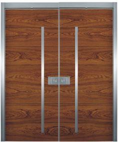 1000 images about doors on pinterest main door design for Modern wooden main double door design