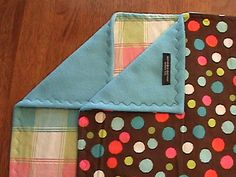 Blue fleece & print flannel blanket to be by ImaKeeperBlankets, $14.95