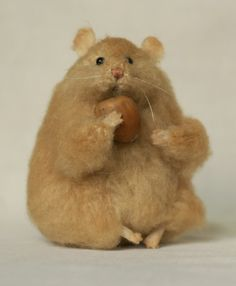 hamster with a nut