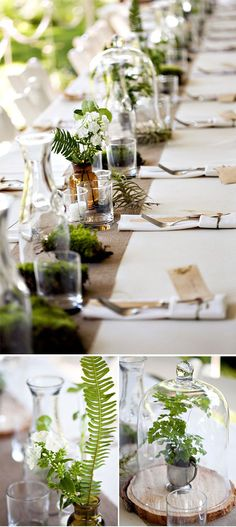 simple tablescape full or greenery