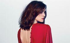 Download wallpapers Keira Knightley, British actress, red dress, brunette, beautiful woman, British celebrities