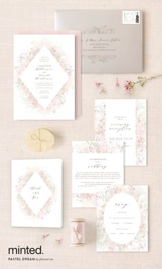 This is what we call a pastel dream wedding invitation suite: http://www.minted.com/product/wedding-invitations/MIN-YOY-INV/pastel-dream?utm_medium=social&utm_source=pinterest&utm_sub=stylemepretty&utm_campaign=SMPFPB1216&utm_content=pastel_dream Artist: Phrosne Ras #sponsored