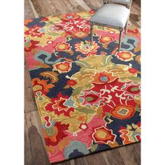 nuLOOM Handmade Carousel Multi Rug (7'6 x 9'6) | Overstock™ Shopping - Great Deals on Nuloom 7x9 - 10x14 Rugs. Our NYC showroom is at 225 West 37th st New York NY 10018. home decor, print, design, decor, style, modern, home, house, contemporary, trends, interior design.