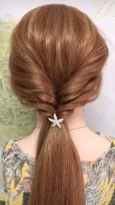 May 2020 - Simple & Quick Long Hair style Video Tutorial Women Girls Easy Hairstyles For Thick Hair, Teen Girl Hairstyles, Simple Wedding Hairstyles, Diy Hairstyles, Simple Everyday Hairstyles, Simple Hair Updos, Bob Hairstyle, Hair Up Styles, Medium Hair Styles
