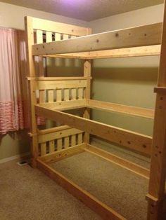 Simple Bunk Bed Triple Bunk
