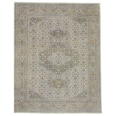 Capel Rugs Leonardo Natural Light Blue Hand Knotted Wool Rug #laylagrayce