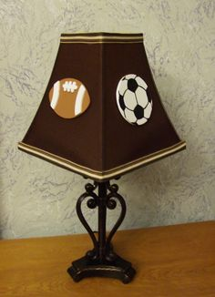 Game Day Sports Lamp Shade by SEAKcreations on Etsy, $28.50