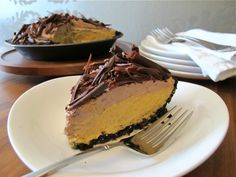 No-Bake Chocolate Pumpkin Mousse Pie | Serious Eats: Sweets