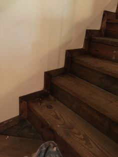 Trimmed out stairs with pallet wood