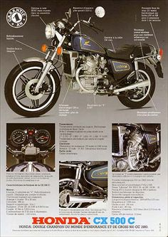 Motos Honda, Honda Cx500, Honda Cb, Vintage Honda Motorcycles, Honda Bikes, Motorcycle Posters, Motorcycle Bike, Bmx, Cx500 Cafe Racer