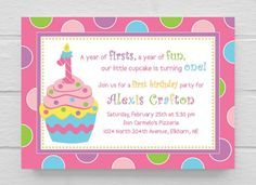 First birthday invitation wording and 1st birthday invitations printable cupcake 1st birthday party by simplysaidbycourtney 1500 filmwisefo