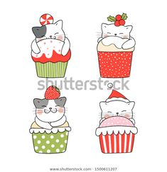 Find Draw Illustration Collection Cute Cat Sleeping stock images in HD and millions of other royalty-free stock photos, illustrations and vectors in the Shutterstock collection. Cute Cat Sleeping, Sleeping Drawing, Cat Doodle, Doodle Cartoon, Christmas Drawing, Christmas Cats, Vector Christmas, Good Morning Cat, Valentines Watercolor