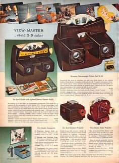 View Masters from the Sears Christmas Catalog, 1959